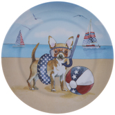 Chihuahua 4th Of July Plate