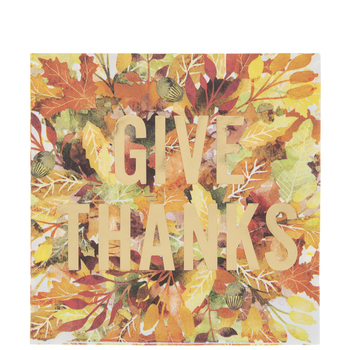 Give Thanks Leaf Napkins