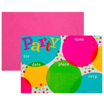 Bright Dots Invitations