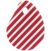 Red & White Striped Bowl Scraper