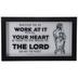 Colossians 3:23 Basketball Framed Wall Decor