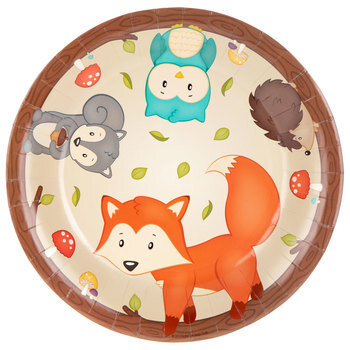 Woodland Party Paper Plates - Large