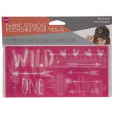 Wild One Fabric Stencils