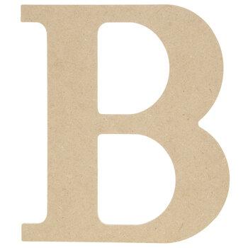 "Wood Letter B - 9 1/2"""