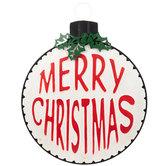Merry Christmas Ornament Metal Wall Decor