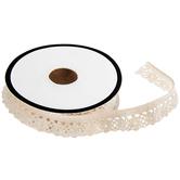 "Ivory Crochet Elastic Trim - 1/2"""