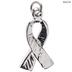 Breast Cancer Rhinestone Charm