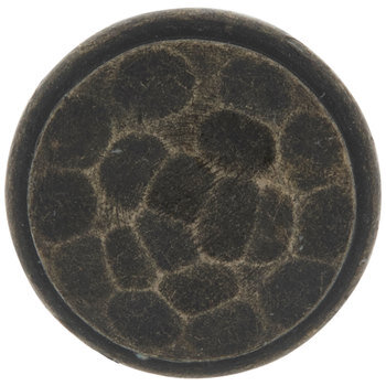 Round Hammered Metal Knob