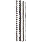 Purple & Black Glass Bead Strands