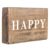 Happy Wood Wall Decor