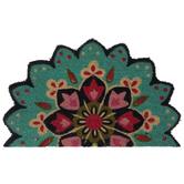 Pink & Blue Floral Mandala Doormat