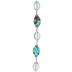 Turquoise Amazonite & Jade Glass Bead Strand