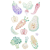 Vegetable Rhinestone Stickers