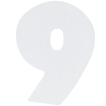 """White Wood Numbers 9 - 2"""""""