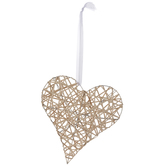 Rattan Wrapped Heart