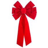 Red Velvet Loop Bow - Small