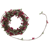 Red & Green Seed Berry Garland