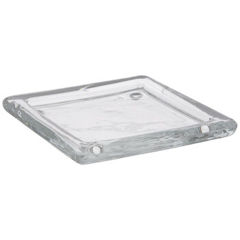 Square Plate Glass Candle Holder