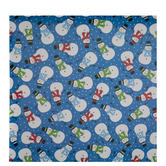 Snowmen With Scarves Gift Wrap