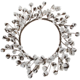 Cotton Bolls Wreath