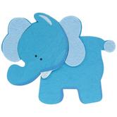 Blue Elephant Painted Wood Shape