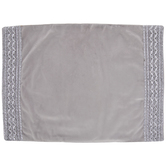 Gray Velvet Placemat With Trim