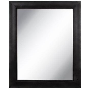 Black Scoop Wood Wall Mirror