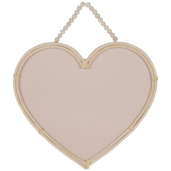 Pink Heart Wood Corkboard