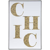 Cheetah Print Chic Wood Wall Decor
