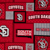 South Dakota Block Fleece Fabric