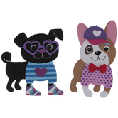 Heart Dog Dress Up Foam Craft Kit