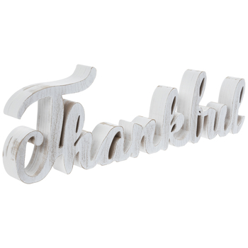 Whitewash Thankful Wood Decor
