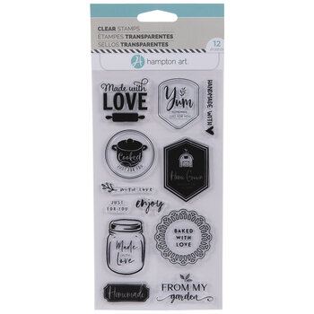 Homemade Sentiments Clear Stamps