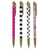Roses & Hearts Mechanical Pencils - 4 Piece Set