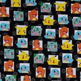 Starter Pokemon Cotton Calico Fabric