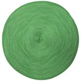 Green Metallic Round Woven Placemat