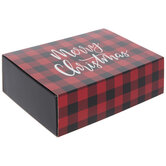 Merry Christmas Buffalo Check Treat Boxes