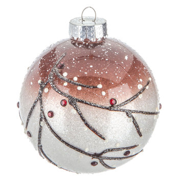 Frosted Branch Ball Ornament