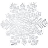 Silver Metallic Cut-Out Snowflake Placemat