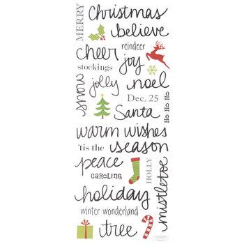 Handwritten Christmas Stickers