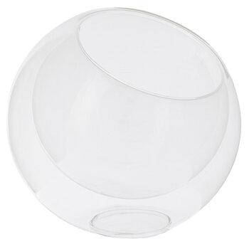 Slanted Ball Glass Terrarium - Small