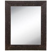 Bronze Hammered Metal Wall Mirror