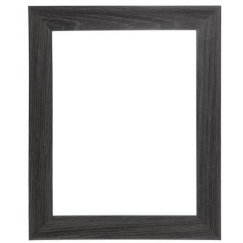 Gray Veneer Beveled Wood Open Frame