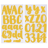 Yellow Handwritten Alphabet Stickers