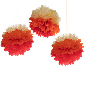 Fiesta Tissue Pom Poms