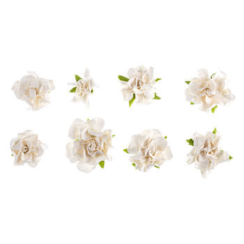 White Marseille Prima Flower Embellishments