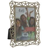 "Gold Deco Prism Metal Frame - 4"" x 6"""