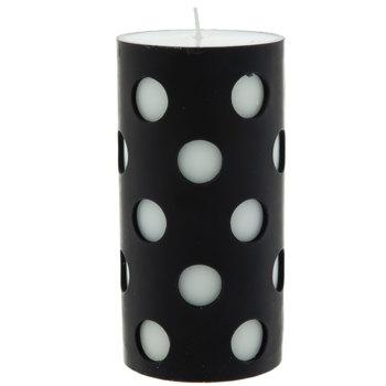 Polka Dot Pillar Candle