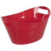 Red Oval Container With Handles - Small