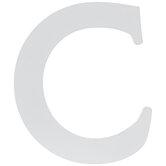 """White Wood Letter C - 4 1/2"""""""